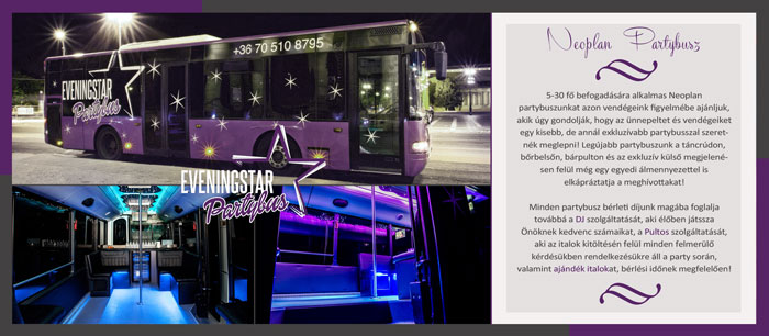 5-30 fős neoplan partybusz bemutatása